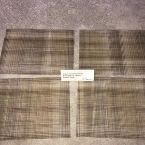 Chilewich Rectangular Placemats Table Mats Set (4)